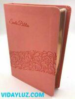 BIBLIA REGALOS Y PREMIOS, REINA VALERA 1960 PIEL ROSADA, PALABRAS DE CRISTO ROJO