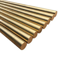 Brass Round Rods 100mm Length --- 2 PIECES --- Knife Handle Mosiac Pin Rivet DIY