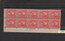 US stamps Sc# 554 block of 10 2c stamps 1920 MNH VF OG