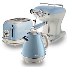 Ariete Retro Style 1.7L Jug Kettle, 2 Slice Toaster & Espresso Machine, Blue