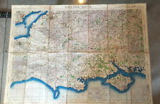 WW2 Air Map 1942 War Ministry England South