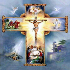 Full Drill Diamond Painting Kit Jesus Christ The Cross Holy light ZY127D