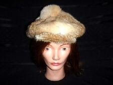 Vintage Womens Winter Rabbit Fur Fashion Cabbie Hat Beanie  - Awesome!!