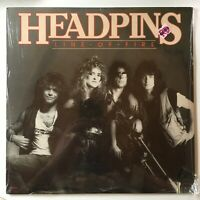 "NOS HEADPINS ""line of fire"" 1983 album 33rpm HEAVY METAL vinyl LP 12"" SEALED"