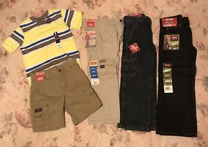 NWT Lot Sz 5 Boys Clothes Pants Shorts Tee Wrangler