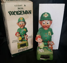 "RARE! Hoffman Orig. Mr Lucky Series ""Mr Policeman"" Decanter w/ Music Box & ERROR"