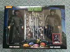 MIB NECA TMNT TEENAGE NINJA TURTLES Exclusive FOOT Soldier  2-Pack Figure Set