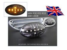 BMW New MINI R50 R52 R53 Clear/Black LED Union Jack Side Repeaters - Smoked - UK