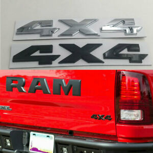 For Dodge Ram1500 2500 3500 4X4 Rear Tailgate Emblem ABS Badge Waterproof New