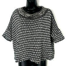 Zara Trafaluc S Stud Spike Sweater black white stripe Cotton blend SS