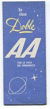 AEROLINEAS ARGENTINAS COMET BROCHURE CUTAWAY & SEAT MAP