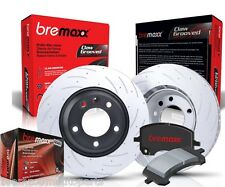 BREMAXX SLOTTED PAIR FRONT DISC BRAKE ROTORS & PADS FORD FALCON BA BF FG NEW