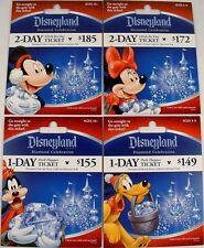 DISNEY DIAMOND 60TH ANNIVERSARY CHRISTMAS PARK TICKETS MICKEY MINNIE GOOFY PLUTO
