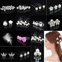 Party Wedding Bridal Crystal Flower Crown Hair Pin Hair Clips Bride