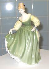 VINTAGE ROYAL DOULTON FIGURINE FAIR LADY HN2193 by Peggy Davies Green & Yellow