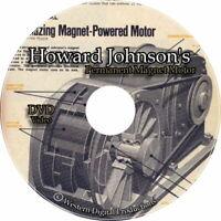 DVD Inventor Howard Johnson Permanent Magnet Motor Plans Alternative Free Energy