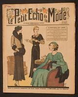 'ECHO DE LA MODE' FRENCH VINTAGE NEWSPAPER 6 DECEMBER 1931