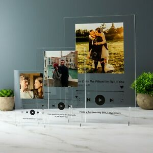 Personalised Song Plaque Playlist Streaming Service Custom Album Art Gift
