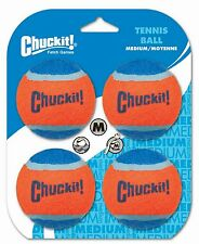 Chuckit! Dog Fetch TENNIS BALLS Floating Soft Toy Fits Launcher MEDIUM 4 PACK