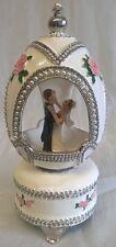 JULIANA TREASURED TRINKETS RUSSIAN IMPERIAL STYLE WEDDING EGG MUSICAL BOX 14999