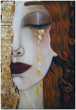 Woman Golden Tears - 60x40cm Hand Painted Gustav Klimt Oil Painting On Canvas