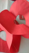 3m Red Heart Shaped Paper Garland Bunting Valentines Day Wedding Decor Love