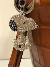 Metal Rhinestone Snoopy Key Ring/Purse Jewelry Key Chain/ Zipper Pull