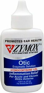 Zymox Ear Solution the Only No Pre-Clean Once-a-Day Dog and Cat Ear Solution...