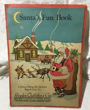 Detroit, MI Santa's Fun Book Advertisement People's Outfitting Co. VTG Christmas