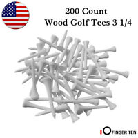 Wood Golf Tees 3 1/4 200 Count Pride Professional Tee System Evolution White