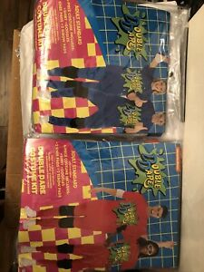 Set of 4 Nickelodeon DOUBLE DARE Costume Kit - Adult - Red / Blue Teams -NEW