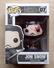 Funko Pop Game Of Thrones Jon Snow Bloody + Free Protector