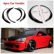 4pcs Black Body Fender Flares Flexible Fender Protector Durable Polyurethane PU