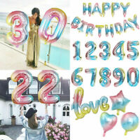"32"" 0-9 Giant Foil Number Helium Large Baloon Birthday Party Wedding Decorations"