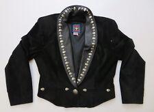 Renegade Spirit Black Leather Cropped Western Jacket Aztec Metal Studs Sz Large