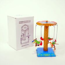 TIN TOY AIRPLANE CAROUSEL Collectible Retro Litho NEW Flying Planes Lever Action