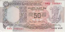 "India P84L 50 Rupees Sig 88 inset B, usual stapler holes, AU,  ""WE COMBINE"""