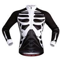 Mens Cycling Jersey Breathable MTB Road Bike Skeleton Tops Sports Shirt Elastic
