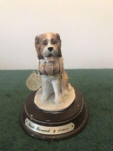 Saint Bernard Dog By Leonardo Figurine Ornament, Height Approx 14 cm