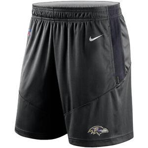 Brand New 2021 NFL Baltimore Ravens Nike Sideline Performance Knit Shorts NWT