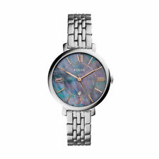 "Fossil ES4205 ""Jacqueline"" Iridescent Dial Silver-Tone Stainless Date Watch 125"