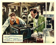 The Curse of Frankenstein original lobby card Hammer Peter Cushing in his lab
