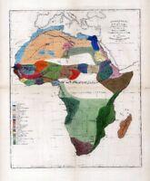 1861 ETHNOLOGY map AFRICA people ANCIENT RACES aborigines ARABS Moors BERBERS 6