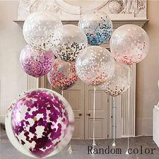 2X Foam Sequins Confetti Filled Balloons Latex Birthday Wedding Supply Kids Toy