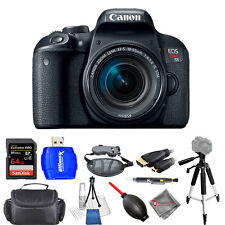 Canon EOS Rebel T7i DSLR Camera with 18-55mm Lens - Pro Bundle Brand New!