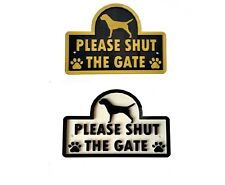 Border Terrier - Please Shut The Gate 3D Dog Plaque  House Garden Door Wall Sign