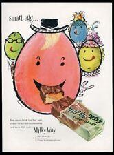 1954 Ludwig Bemelmans Easter Egg art Milky Way candy bar vintage print ad