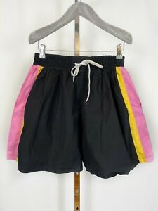 The Ragged Priest Shorts Black Side Stripes Large