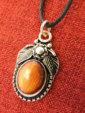 Forest Fairy Amulet Pendant Sidhe Celtic Pagan Faerie Silver Plated Cotton Cord
