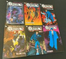 THE QUESTION Vol. 1-6 (Complete Out of Print TPB Set) Dennis O'Neil series *RARE